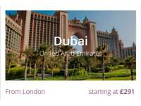 London to Dubai special single return flight ticket just £240