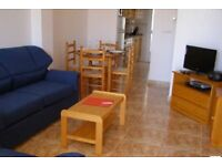 Costa Blanca, Spain. 2 bed apartment, WI-FI, A/C, English TV, Southerly from £230 pw sleeps 6 (003)