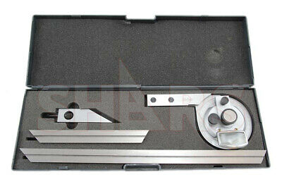 360 Universal Bevel Dial Protractor 6 12 Blades Satin