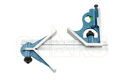 6 3 Pc Combination Square Sets Protractor W 6 4r Graduation Blade New P