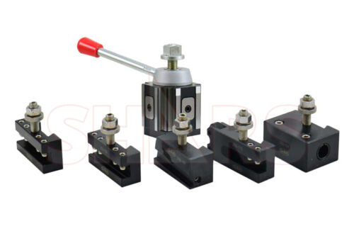 "Shars 6 - 12"" CNC AXA Piston Quick Change Tool Post Set 250-100 + Certificate #}"