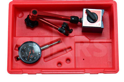 Shars 1 Dial Indicator 0.0005 W Magnetic Base Kit New