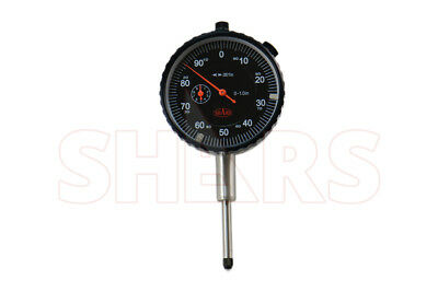 Shars 1 Precision Dial Indicator .001 Agd 2 Graduation Lug Back Black Face New