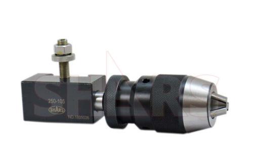"SHARS 6-12"" Quick Change Tool Post AXA 1/32-1/2"" Keyless Drill Chuck Holder New"