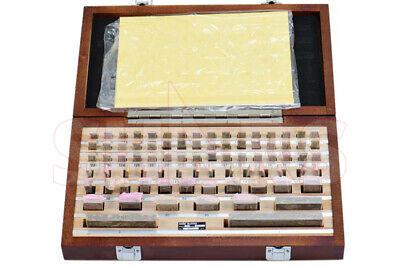 Shars Rectangular Gage Block Set 81 Pc .05-4 As-1 Grade W Nist Certificate L