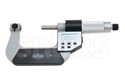 Shars 1-2 Electronic Screw Thread Micrometer 60 Degree V-anvils .00005 New