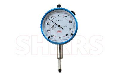 Shars 0.5 High Precision Dial Indicator .001 Agd 2 Travel Lug Back White New