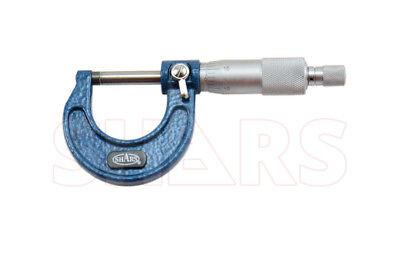 "SHARS 0-1"" Outside Micrometer Ratchet Stop Solid Metal Frame"