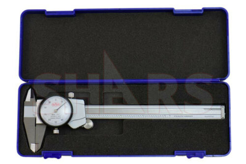 "6"" Dial Caliper .001"" Premium Shock Proof Stainless Steel + Inspection Report P"