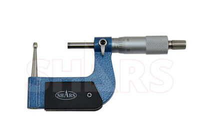 Shars 1-2 Tube Micrometer 0.0001 Graduation Carbide Tipped New P