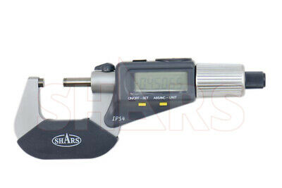 Shars 0-1 4 Way Reading Ip54 Electronic Micrometer New