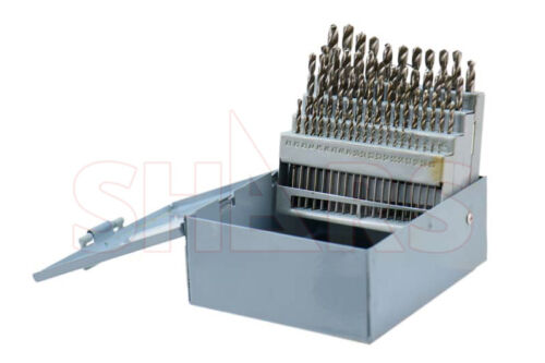 Shars 60 Pcs HSS6542 1-60 Jobber Drill Set Increased 2.62 Time New P}