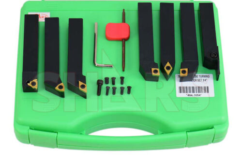 """SHARS 7PCS 3/4"""" INDEXABLE TURNING THREADING LATHE TOOL + INSERT + Certificate A]"""