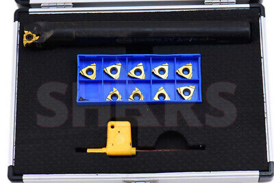 Shars 12 Pc 34 Un Internal Indexable Threading Tool Holder Inserts Set New
