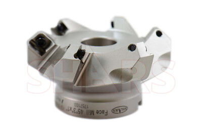 Cnc 3 45 Indexable Face Mill Seht 43 Insert 6fl Wcertificate Save 136 P