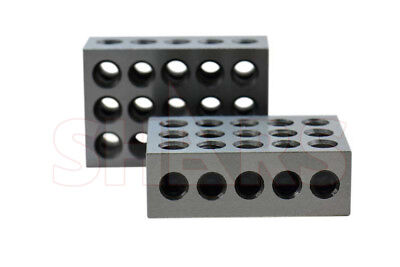 Shars 1 Matched Pair 1-2-3 123 Block Set Precision 0.0001 23 Holes Machinist New