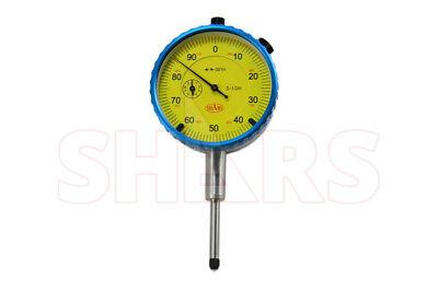 Shars 1 Precision Dial Indicator .001 Agd 2 Graduation Lug Back Yellow New