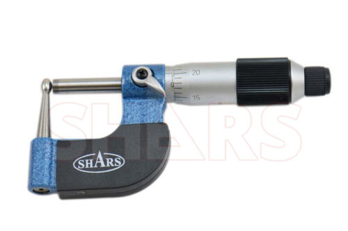"""SHARS 0-1"""" Tube Micrometer 0.0001"""" Graduation Carbide Tipped NEW"""
