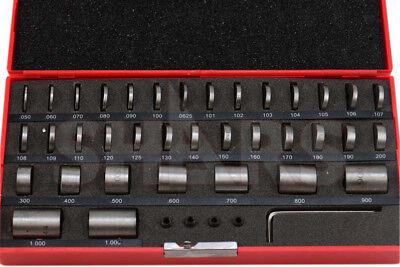 Shars 36 Pcs Steel Round Gage Space Block Hardened Blocks Gages Set S