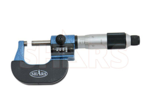 "Shars 0- 1"" DIGITAL READOUT DIGIT COUTNER OUTISDE MICROMETER 0.0001"" CARBIDE P}"
