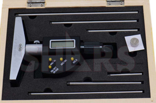 """SHARS TOOLS   0-6""""/152.4mm Electronic Depth Micrometer! A"""