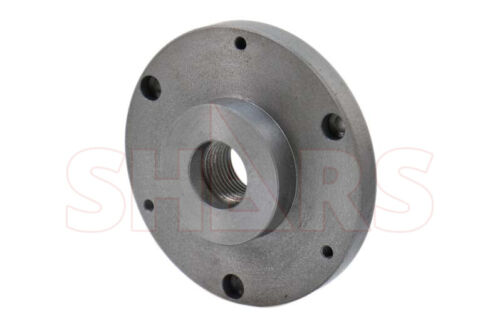 """6"""" Fully Machined Threaded Back Plate 1-1/2-8 For 3 or 4 Jaw Self Center Chuck"""