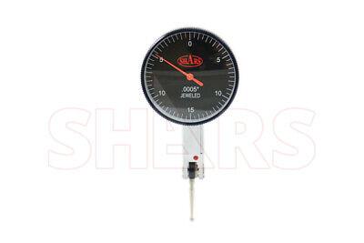 "SHARS PRECISION 1.5"" Black Face Dial Test Indicator Set 0-15-0 .030"" .0005"" NEW"