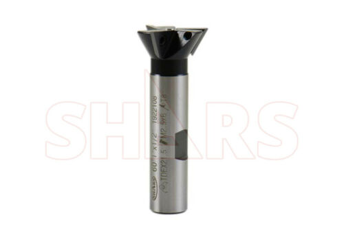 """1 x 1/2"""" Shank 60° Indexable 3FL Dovetail Cutter w/Certificate save $110 P]"""