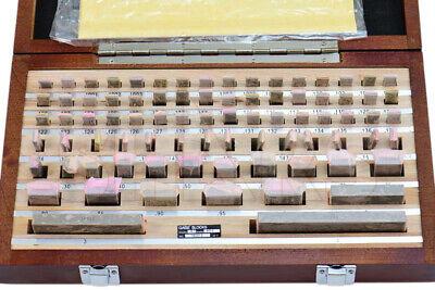 Shars Rectangular Gage Block Set 81 Pc .05-4 As-0 Grade W Nist Certificate L