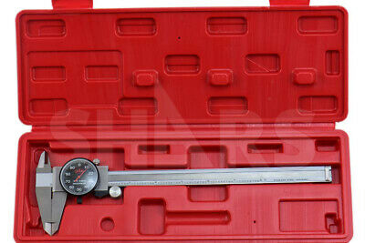 8 Dial Caliper Shock Proof .001 Stainless 4way Black Face Inspection Report A