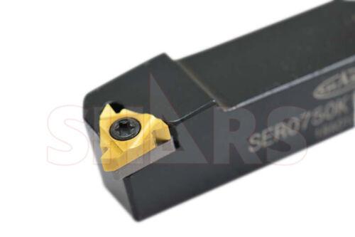 Shars 1/2 RH Indexable Threading Tool Holder ER16 Insert Cert Save $42.45 P]