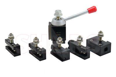 Shars 6 - 12 Cnc Lathe Axa Piston Quick Change Tool Post Set For 6-12cnc Lathe