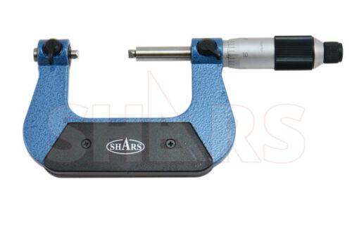 """SHARS 1-2"""" Screw Thread Micrometer .0001"""" Graduation Anvil NEW"""
