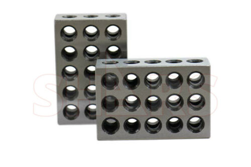 2 ULTRA PRECISION 25x50x75MM METRIC BLOCK BLOCKS .0002