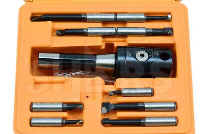 2 Boring Head R8 Shank 9pcs Carbide Tipped 12 Boring Bar Set Save 71.5 L