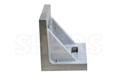 """Ground .0005/"""" Webbed Slotted Angle Plate 9x 7x 6/"""" High Tensile Cast Iron New"""