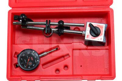 Shars 1 Dial Indicator 0.0005 W Magnetic Base Kit New