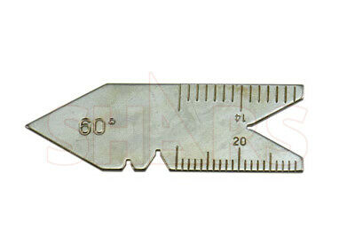 60 Degree Center Gage Thread Gauge Inch Lathe Tool New