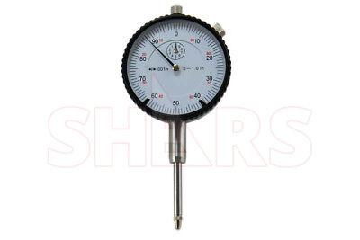 1 High Precision Dial Indicator .001 Agd 2 Graduation Lug Back White New