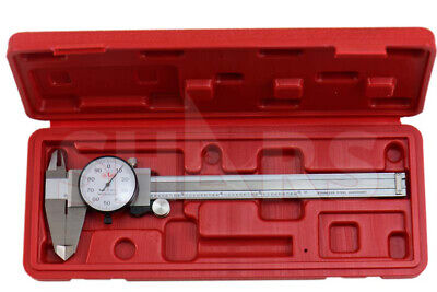 Shars 6 Dial Caliper Shock Proof .001 Stainless 4 Way Inspection Report P