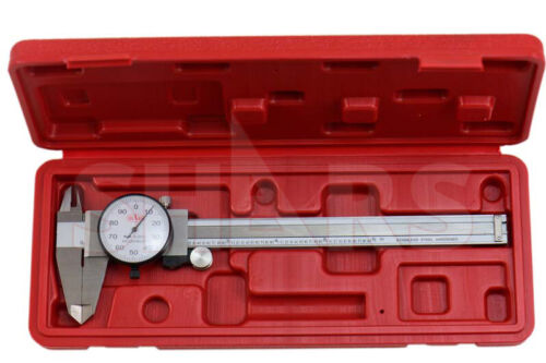 "SHARS 6"" DIAL CALIPER SHOCK PROOF .001"" STAINLESS 4 WAY + Inspection Report  P}"