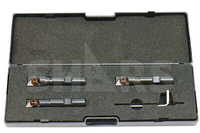 Shars 12 916 58 Mini Indexable End Mill Set W Tpg 22 Carbide Insert P