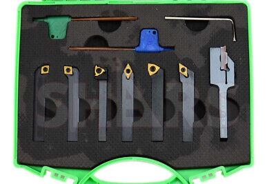 Shars 7pcs 14 Indexable Carbide Turning Threading Lathe Tool Insert Set New A