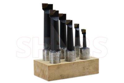 Shars 1 Boring Bar Set C2 6 Pcs Carbide Tipped Bars 1 Shank Lathe Tool New