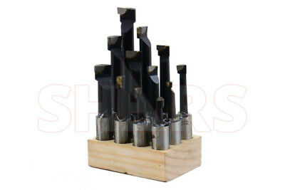 Shars 34 Boring Bar Set C6 12 Pcs Carbide Tipped Bars 34 Shank Lathe Tool New