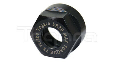 Tegara High Torque Er20 Hex Collet Nut Balanced 12000 Rpm Made In Taiwan New