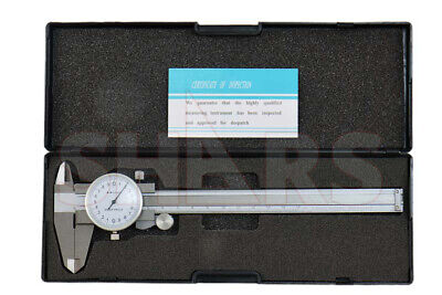 Shock Proof 150.02mm Metric Dial Caliper Stainless 4 Way Inspection Report P