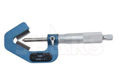 Shars .093-1 60 Degree V-anvil Micrometer 3 Flute Grad .001 New P