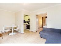 1 DOUBLE BEDROOM FLAT/BRIGHT RECEPTION/KITCHEN/EN SUITE SHOWER ROOM/LOVELY PAVED GARDEN/