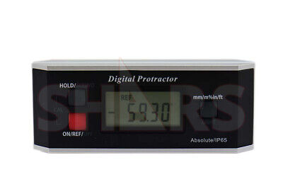 6 Lcd Digital Level Protractor Inclinometer Ip65 360 Degree Measure New